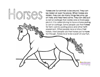 Horses Main Idea Exercises
