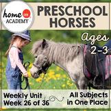 Horses Preschool Unit - Printables for Preschool, PreK, Homeschool Preschool