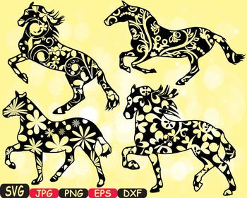 Horses Woodland Silhouette school Clipart zoo circus flowe