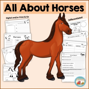 All About Horses, Writing Activities, Graphic Organizers, Diagram