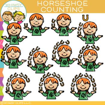 Horseshoe Counting Clip Art