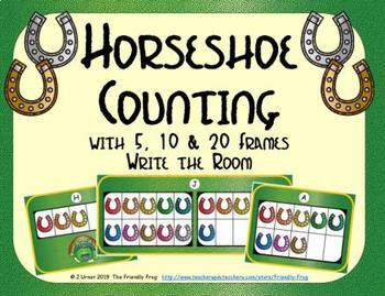 Horseshoe Counting with 5, 10 & 20 Frames {Subitizing}