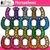 Rainbow Horseshoe Clip Art {Saint Patrick's Day Graphics f