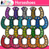 Rainbow Horseshoe Clip Art | Saint Patrick's Day Graphics