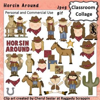 Horsin Around - Color western cowboy crafts C. Seslar