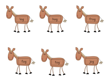 Horsin' Around with Words... CVC (short vowel) real & nonsense words