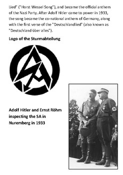 Horst Wessel and the SA Handout