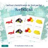 Hortaliças - Montessori 3 part cards in Portuguese