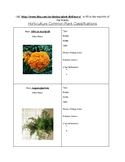Horticulture Common Plant Classification ID Booklet- Plant