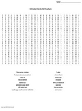 Horticulture Vocabulary Word Searches for Agriculture Students