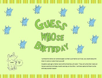 Horton Birthday Bulletin Board