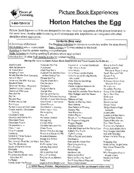 Horton Hatches the Egg Literature Guide