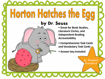 Horton Hatches the Egg by Dr. Seuss Comprehension and Voca