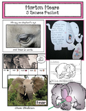Horton Hears: 5 Senses Writing Prompt Craft & Activities Packet