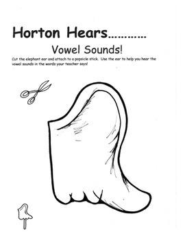 Horton Hears Literacy Responses: Listen for Vowels, Write to 20