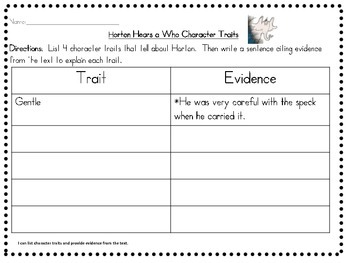 Horton Teaching Resources | Teachers Pay Teachers