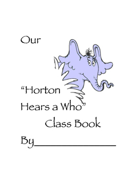 Horton Hears a Who Class Book