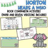 Horton Hears a Who Dr. Seuss Read Across America Book Activity(Digital Included)