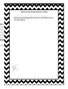 Horton Hears a Who! Persuasive Letter Writing