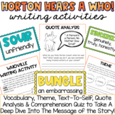 Horton Hears a Who! by Dr. Seuss Student Packet Theme Voca