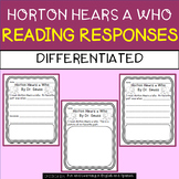 Horton Hears a Who - differrentiated reading responses