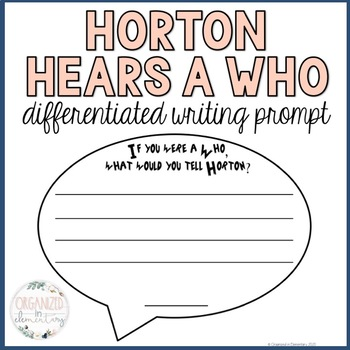 Horton Hears a Who writing