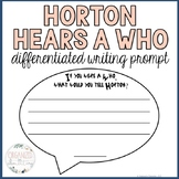 Horton Hears a Who Writing