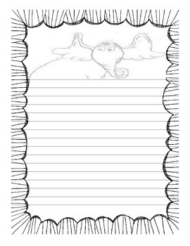 Horton Writing Sheet