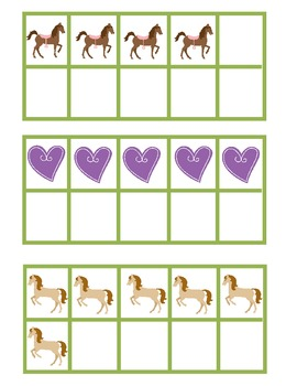 Hose Themed Spring Time 10 Frame Pocket Chart Game