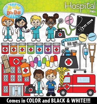 Hospital Community Helpers Clipart {Zip-A-Dee-Doo-Dah Designs}