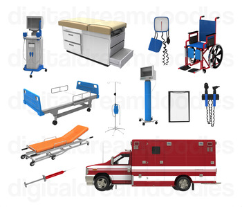 Hospital Doctor Clipart - Healthcare Nurse Digital PNG graphics