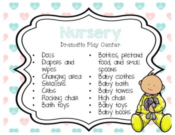 Baby Doll Nursery/Hospital  Dramatic Play