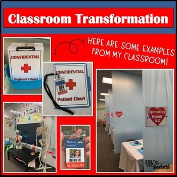 Hospital Operating Room Classroom Transformation Signs and Decor