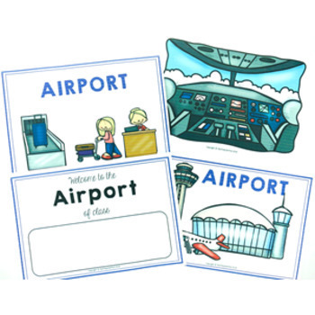 Airport Role Play Pack 40 pages of dramatic community fun!