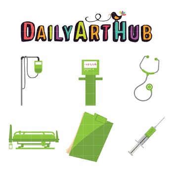 Hospital Set Clip Art - Great for Art Class Projects!