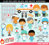 Hospital Workers Clipart
