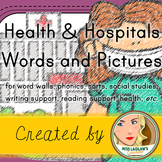 Hospital and Health Word Wall and Vocabulary