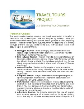Hospitality Tourism Travel Tours Project: Destination Research