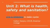 Hospitality and Tourism: Health, Safety & Sanitation Unit Plan
