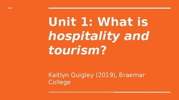 Hospitality and Tourism: Introductory Slideshow, Vocabulary Worksheets and Quiz