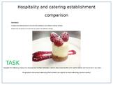 Hospitality & catering establisment comparison excercise/ homework