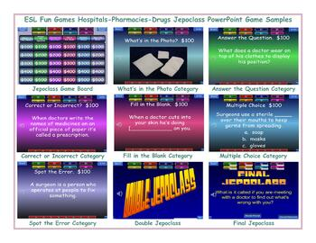 Hospitals-Injuries Jeopardy PowerPoint Game