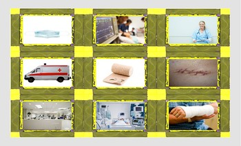 Hospitals and Injuries Legal Size Photo Card Game