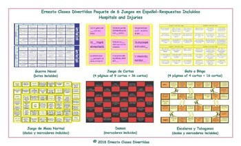 Hospitals and Injuries 6 Spanish Game Bundle