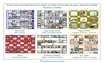 Hospitals and Injuries 6 Spanish Photo Game Bundle