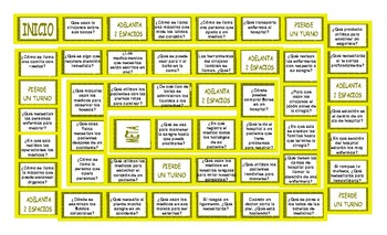 Hospitals and Injuries Spanish Board Game