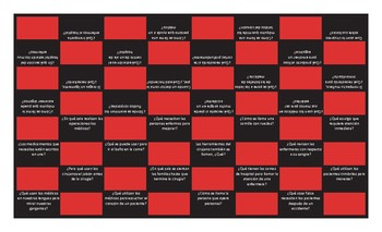 Hospitals and Injuries Spanish Checker Board Game