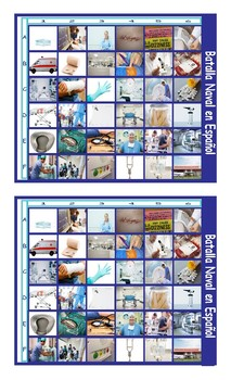 Hospitals and Injuries Spanish Legal Size Photo Battleship Game