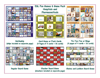 Hospitals and Pharmaceuticals 6 Board Game Bundle