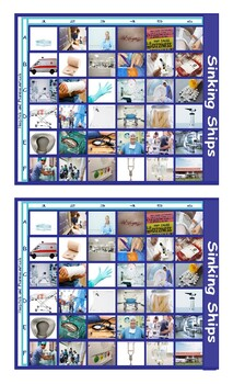 Hospitals and Pharmaceuticals Battleship Board Game
